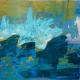"Landschaften / landscapes Sylvia Gatz. ""Bretagne"". 50 x 50 cm. Acryl und Öl auf Leinwand. 2020"