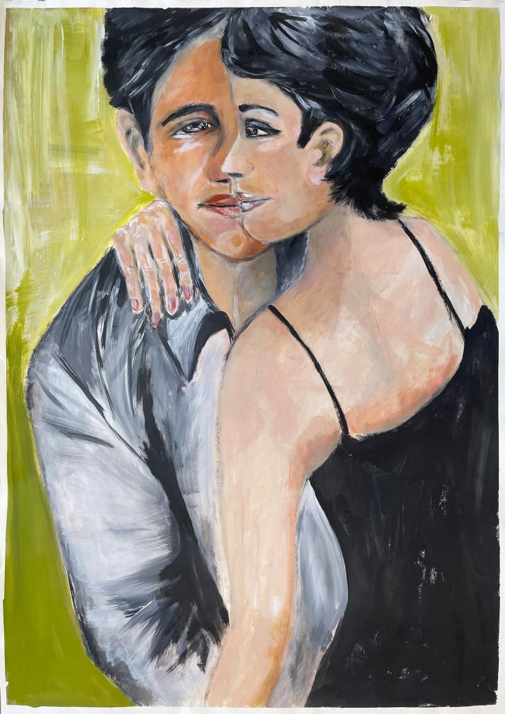 "Sylvia Gatz. ""Ganz nah."" 70 x 100 cm. Acryl auf Leinwand. 2017"