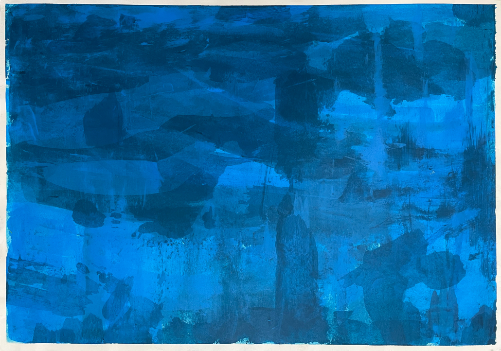 "Sylvia Gatz. ""Grund"". 59,5 x 41,5 cm. Acryl auf Papier. 2017"
