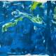 "Abstrakt / abstract Sylvia Gatz. ""Ohne Titel (Blue Jungle)"". 100 x 70 cm. Acryl auf Papier. 2017"