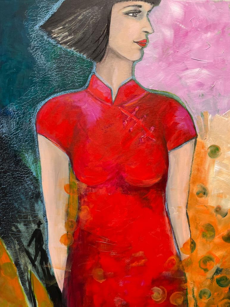 """Sylvia Gatz """"Rosa Future"""" Öl auf Leinwand. 80 x 120 cm. 2021"""