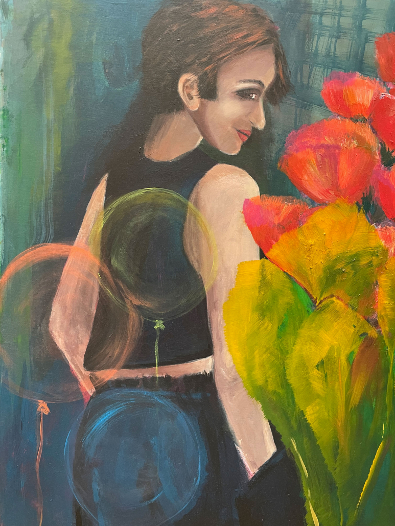"Sylvia Gatz. ""Wendepunkt"" Acryl auf Leinwand. 80 x 100 cm. 2017"