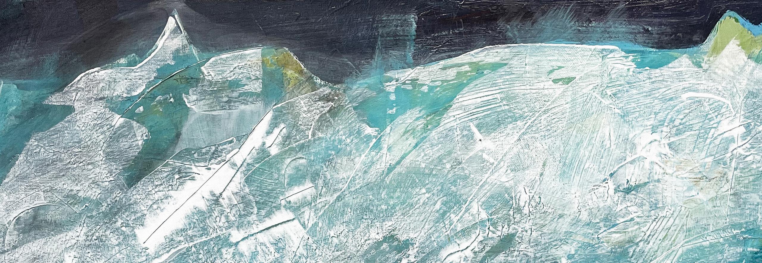 "Aktuelles / News Sylvia Gatz. ""Ohne Titel (Massif central)"". Detail. 80 x 80 cm. Acryl auf Leinwand. 2021"