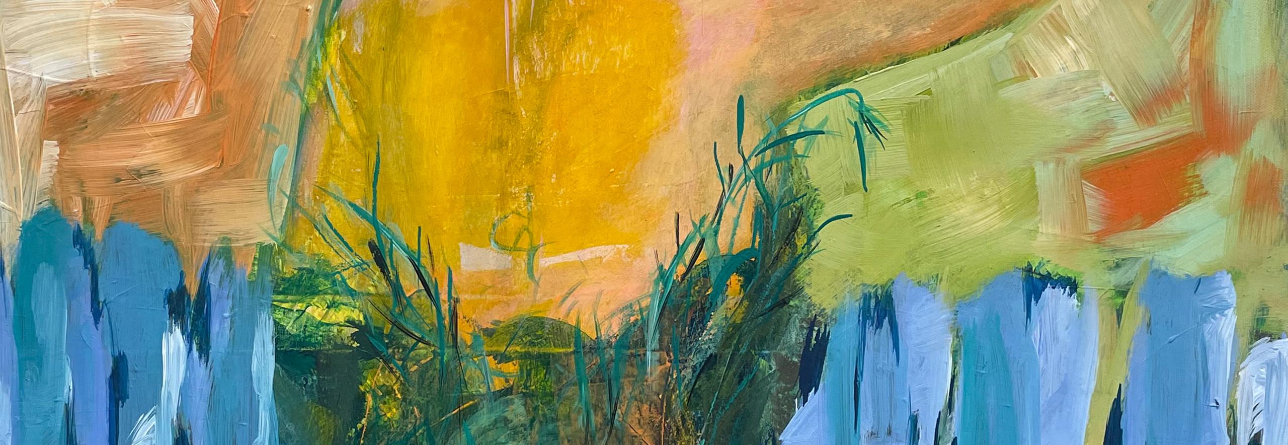 "Menschen / humans Sylvia Gatz. ""Ohne Titel (Baumfrau)"". Detail. 80 x 100 cm. Acryl auf Leinwand. 2020"