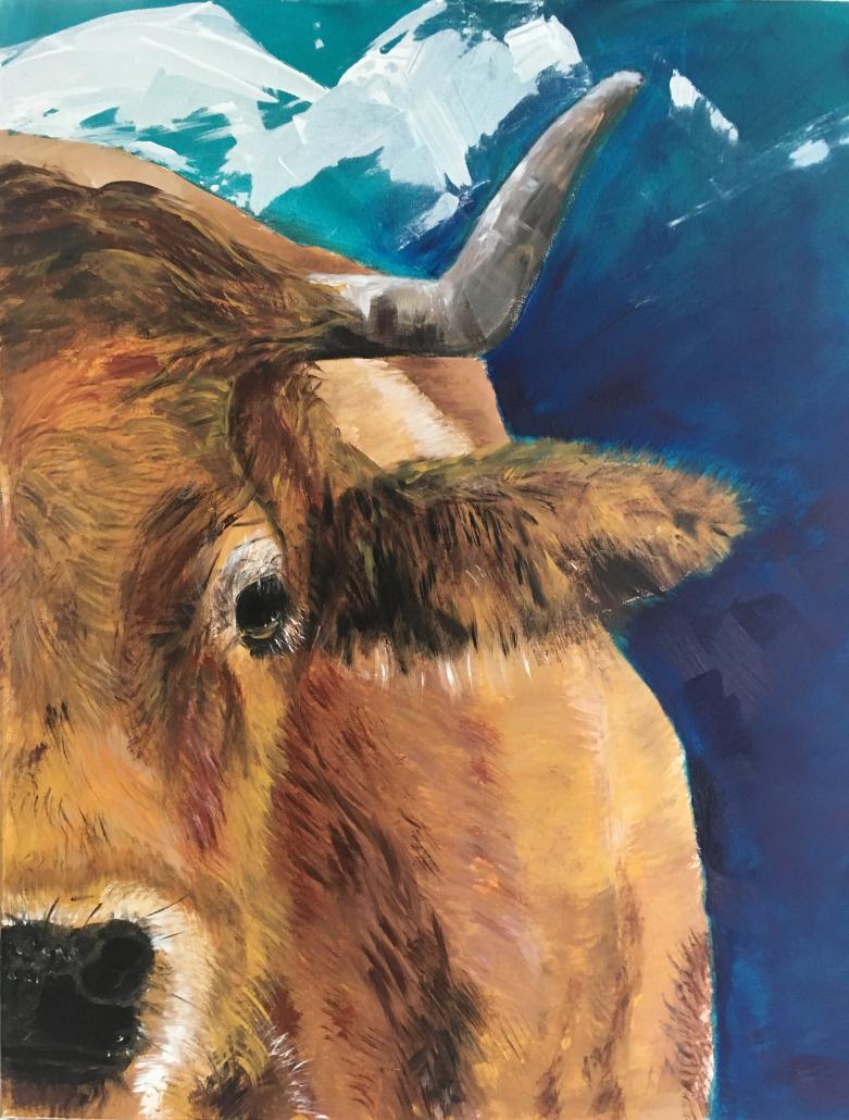 "Tiere /animals Sylvia Gatz. ""Ronda"". 80 x 60 cm. Acryl auf Leinwand. 2021"