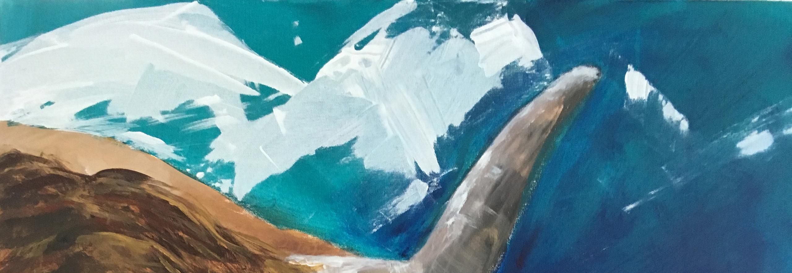 """Tiere / Animals Sylvia Gatz. """"Ronda (Detail)"""". 80 x 60 cm. Acryl auf Leinwand. 2021"""